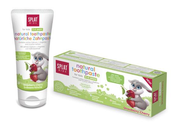 SPLAT KIDS Jahoda-třešeň zubní pasta 2-6 let